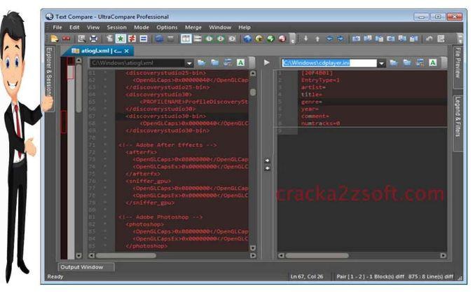 IDM UltraCompare Pro screen
