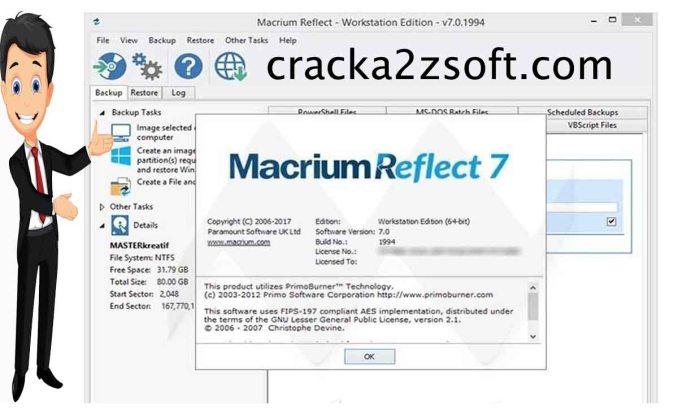 Macrium Reflect Portable crack Screenshot