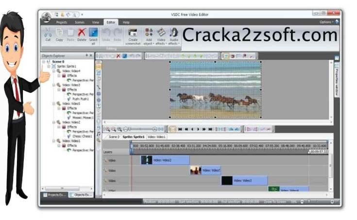 VSDC Video Editor Pro License key Screenshot