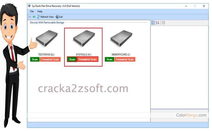 SysTools Pen Drive Recovery crack screenshot