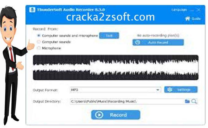 ThunderSoft Audio Recorder key screenshot