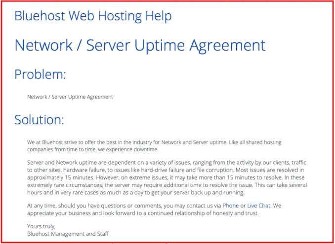 bluehost-server-uptime-agreement