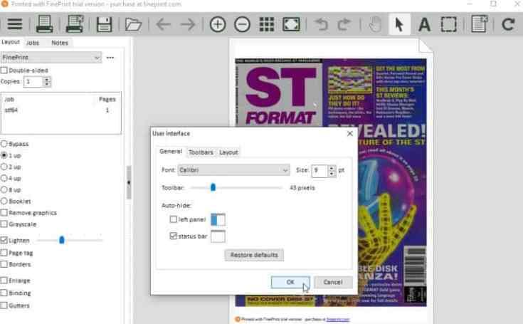 FinePrint Serial Key screen