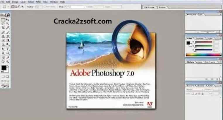 Adobe Photoshop 7.0 Crack Serial number Free Download screenshot