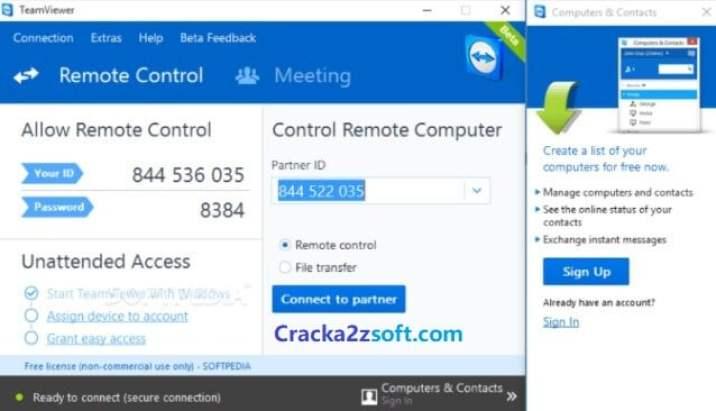 TeamViewer Crack 2021 screenshot