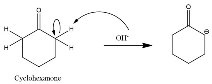 aldol condensation of cyclohexanone