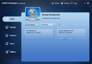 AOMEI Backupper Professional 4.5.2 Crack + Key 2019 Free Here