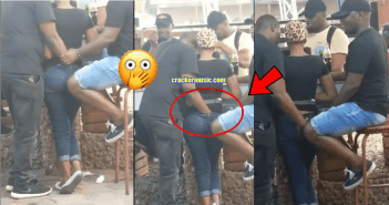 Man caught on Camera Fingering a Lady in the Public (Watch Video)