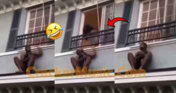 Man Captured Hiding On Roof Top After The Married Woman He Was Cheating With's Husband Returned Home Unannounced