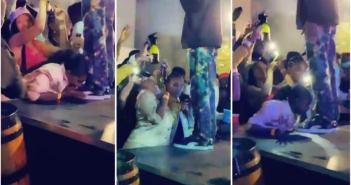 Woman-goes-gaga-during-rapper-Riky-Rick-performance-licks-his-shoes