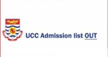 UCC Admission List 2021/2022