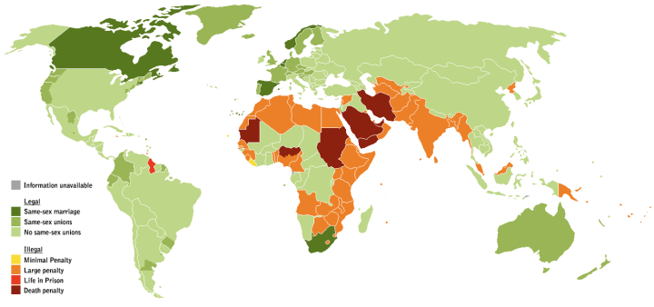 Global legality of homosexuality.