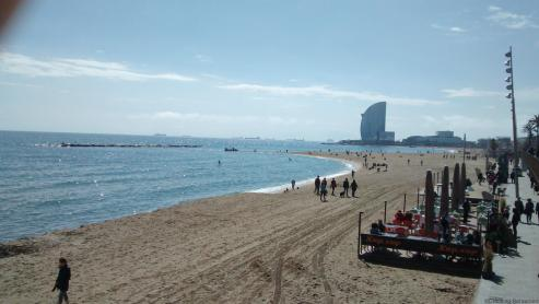 Cracking retirement travels 2016 - Barcelona Barceloneta Beach