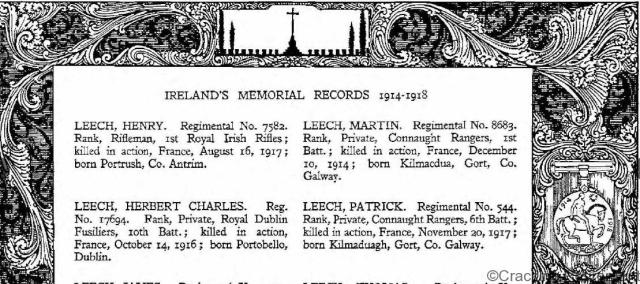 Cracking retirement world war I Irish memorial