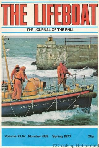 Cracking REtirement RNLI Magazine 1977