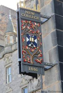 Cracking Retirement - new college sign