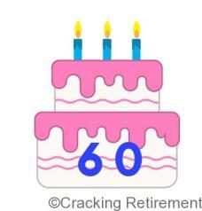 Cracking REtirement 60 cake