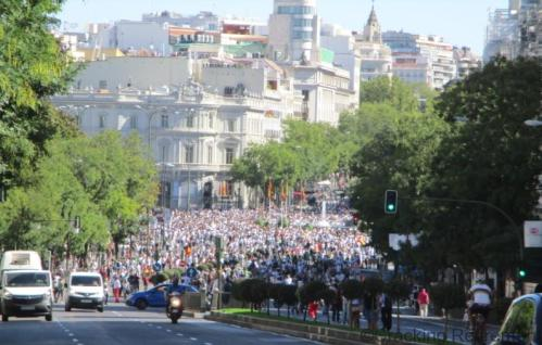 CRacking Retirement Madrid Cibeles demonstration sh