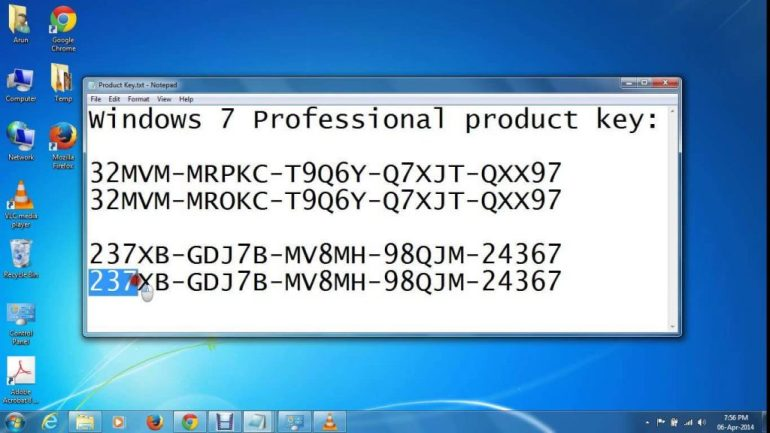 free download window 7 professional with product key