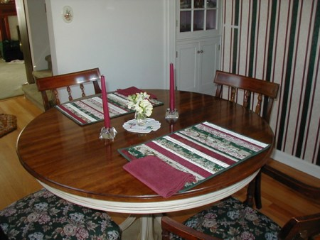 placemats in situ