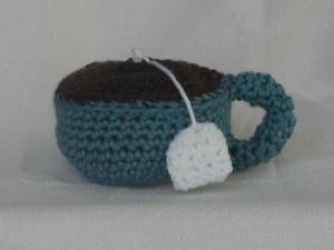 Crochet teacup