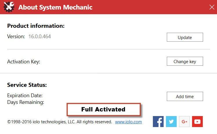 system mechanic key