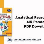 Analytical Reasoning By MK Pandey PDF Download