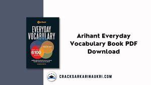 Arihant Everyday Vocabulary Book PDF