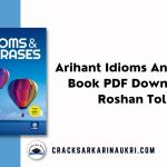 Arihant Idioms And Phrases Book PDF Download By Roshan Tolani