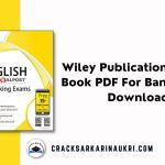 Wiley Publication English Book PDF For Bank Exams Download