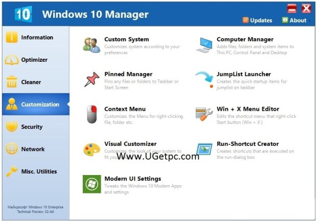 Windows-10-Manager-cod-ugetpc