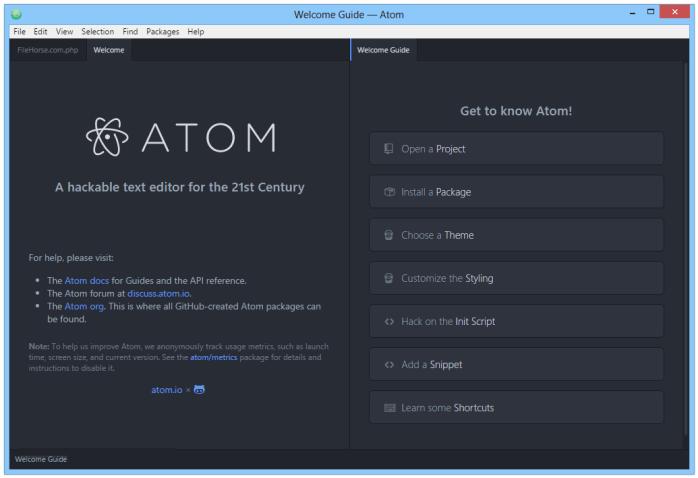 Atom windows