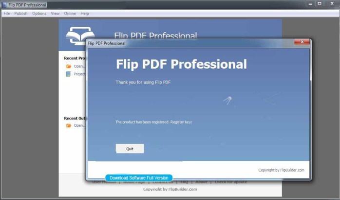 Flip PDF Professional Windows
