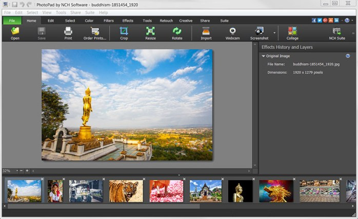 PhotoPad Image Editor Windows