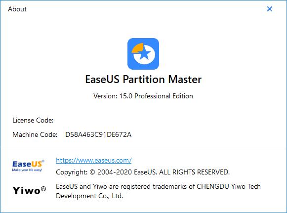 EaseUS Partition Master 15 Pro