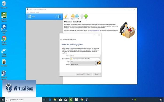 VirtualBox Windows