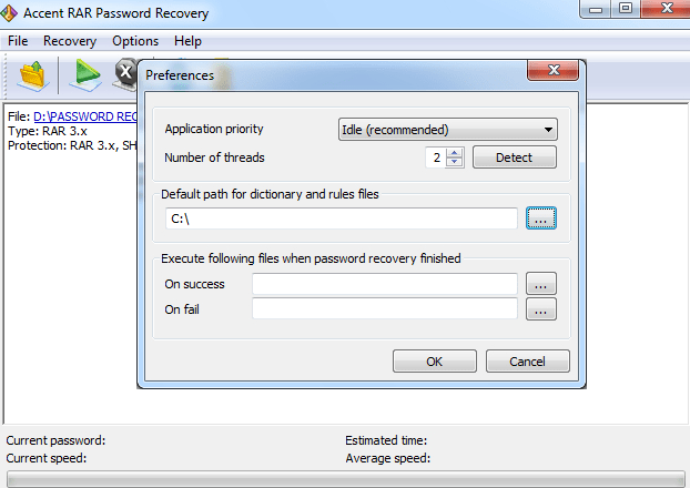 Atomic RAR Password Recovery windows