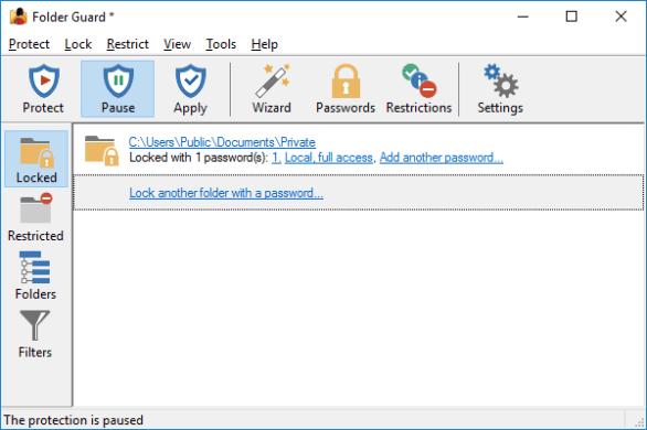 Folder Guard Professional windows