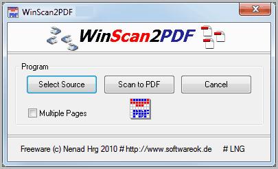 WinScan2PDF latest version