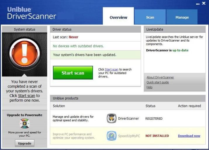 Uniblue DriverScanner latest version