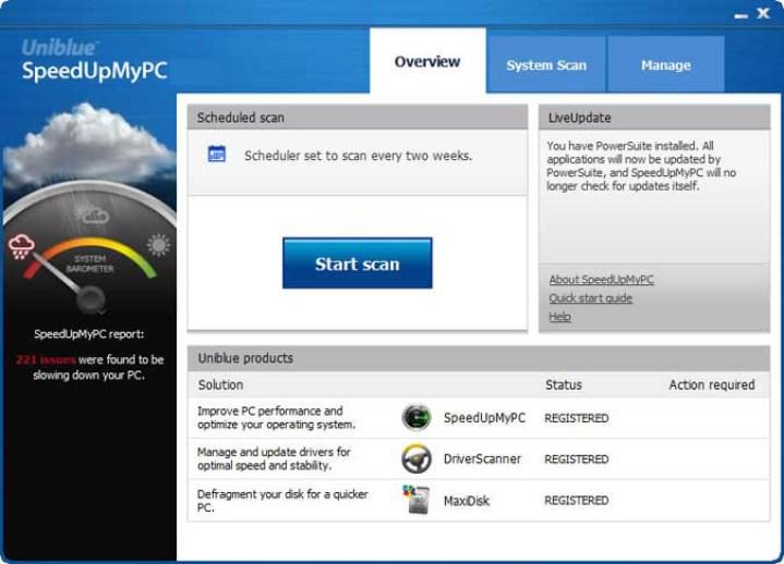Uniblue SpeedUpMyPC latest version