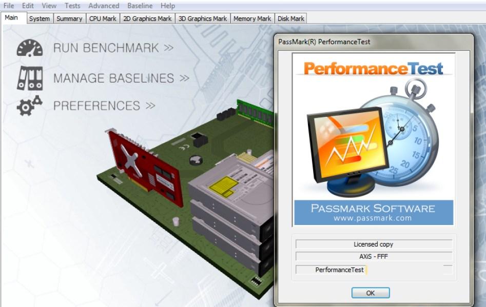 PassMark PerformanceTest windows