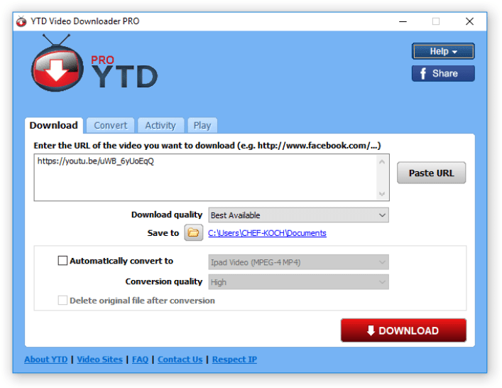 YTD Video Downloader PRO windows