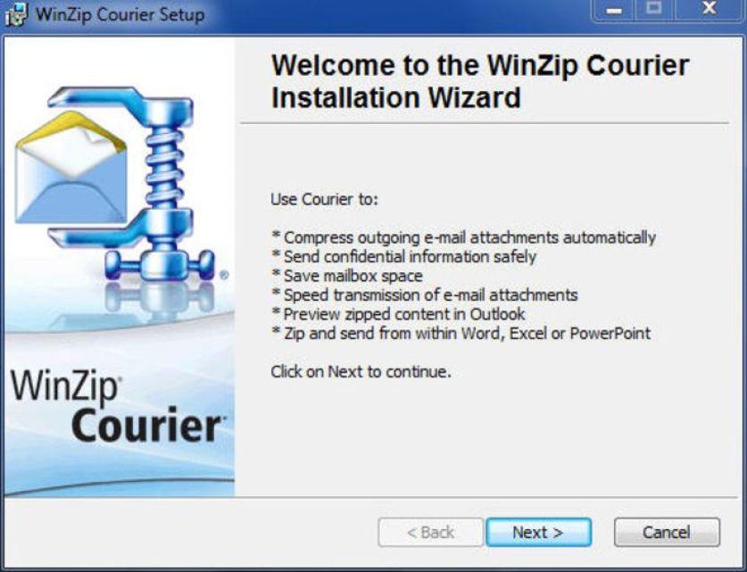 WinZip Courier windows