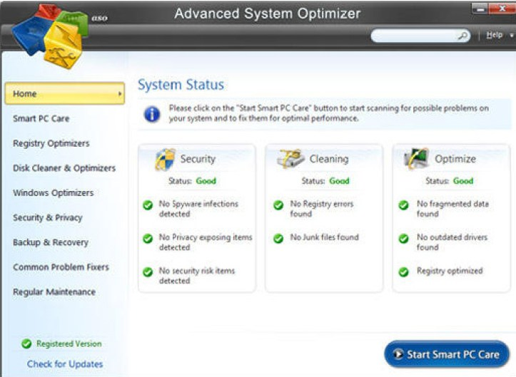 Advanced System Optimizer windows