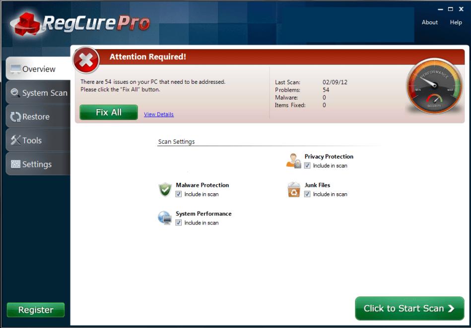 RegCure Pro windows