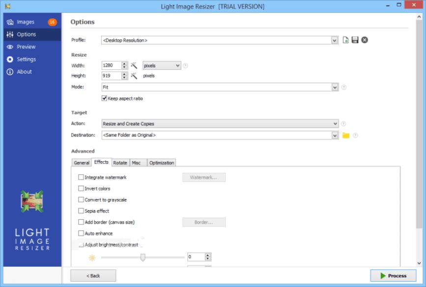 Light Image Resizer latest version