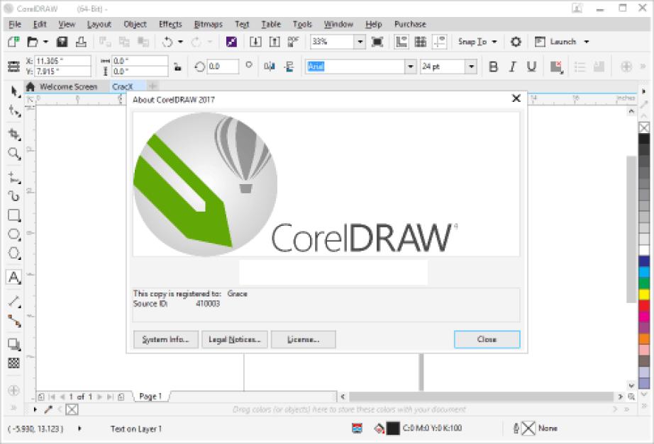 Corel Draw X9 windows