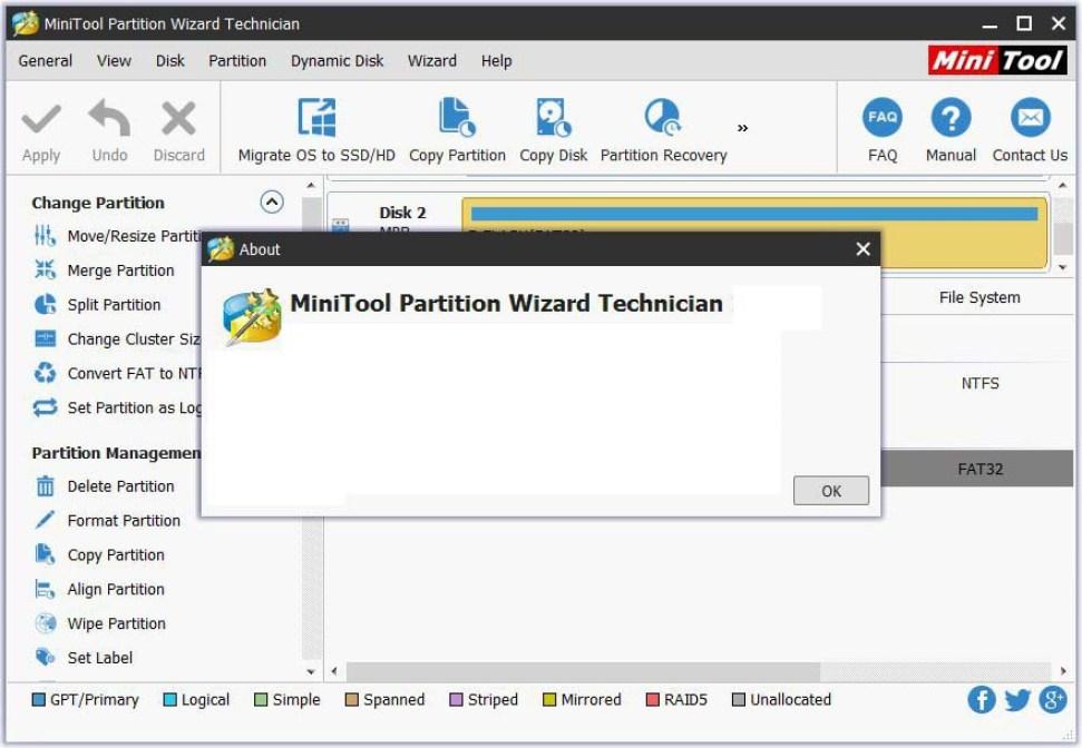 MiniTool Partition Wizard Technician windows