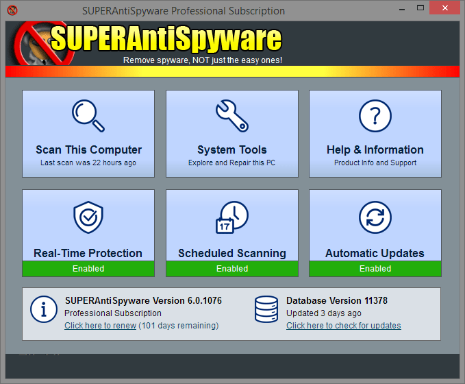 SUPERAntiSpyware Pro latest version